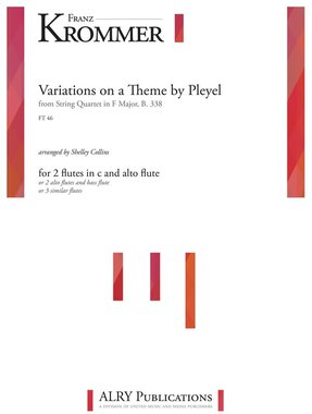 Krommer (arr. Collins) - Variations on Theme by Pleyel for Flute Trio